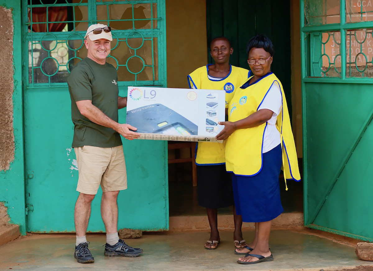 Stuart Herd Donates Solar Lighting And Charging System