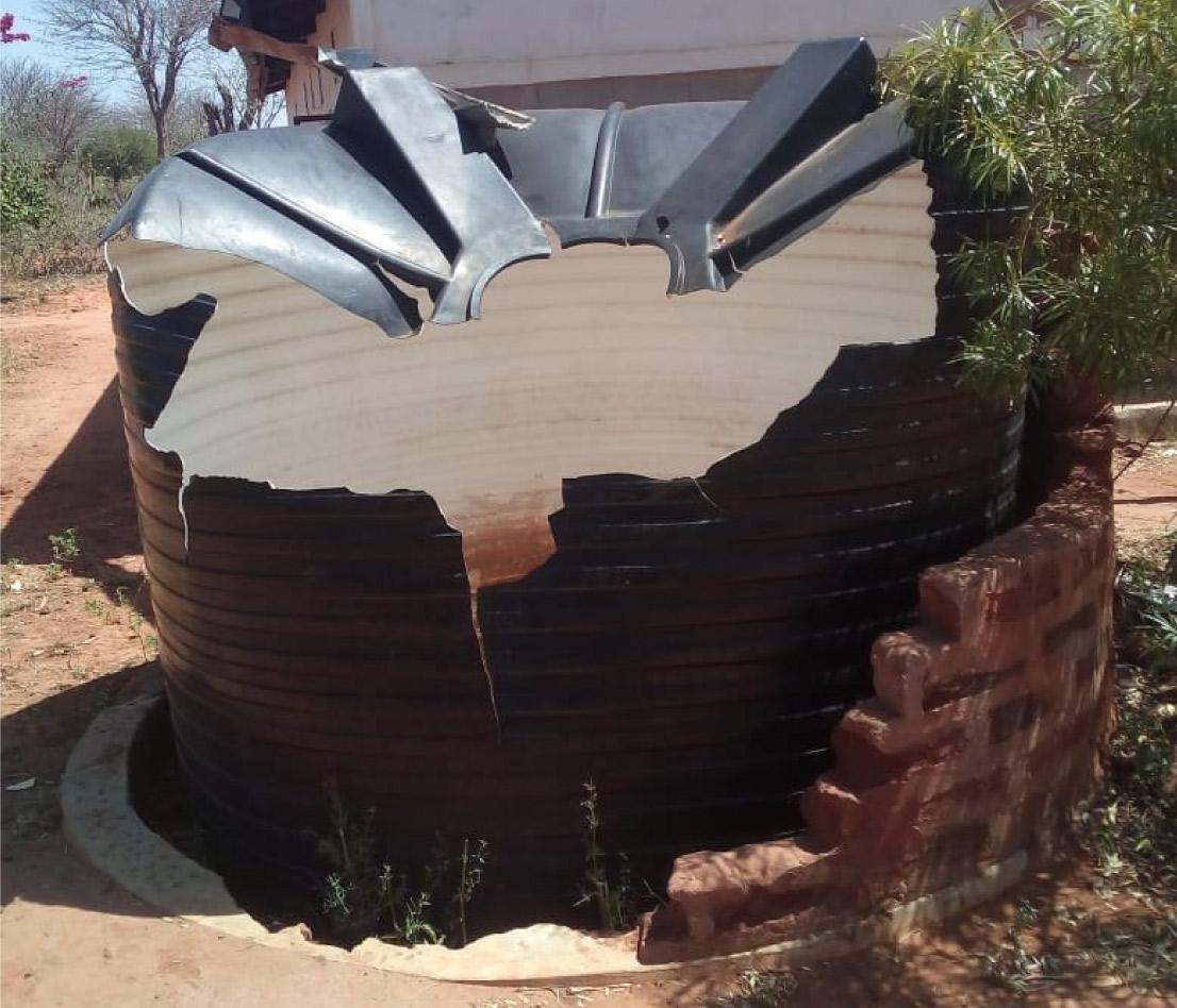Dry Damaged Property Watertank
